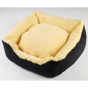 Senior Gold Sheepy Dog Bed - Medium